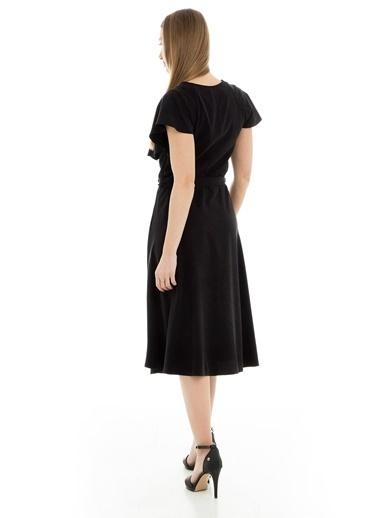 Bebe Plus Elbise Siyah